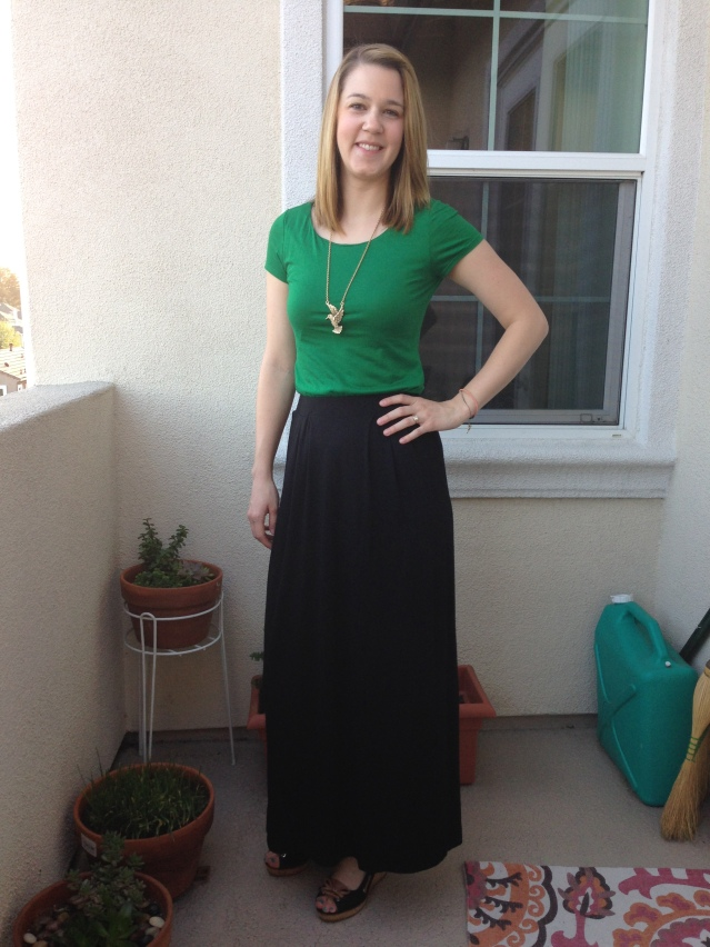Banana Republic Tee and Maxi Skirt