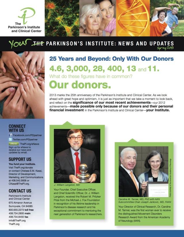 PI Newsletter Spring 2013 Page 1
